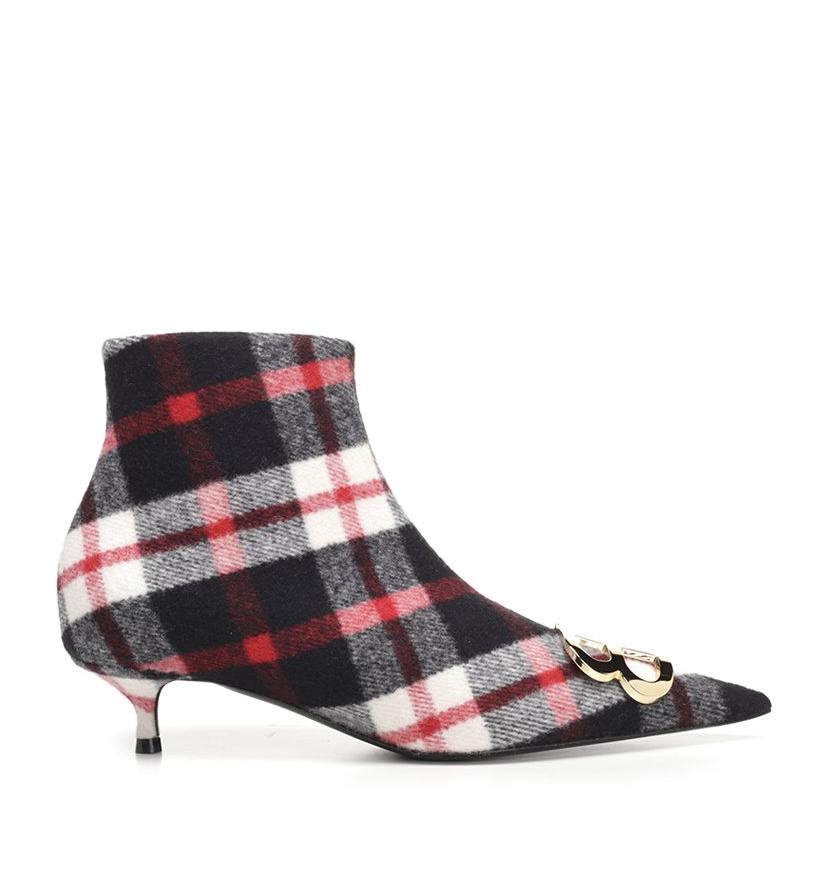 BALENCIAGA CHECK BB BOOTIES