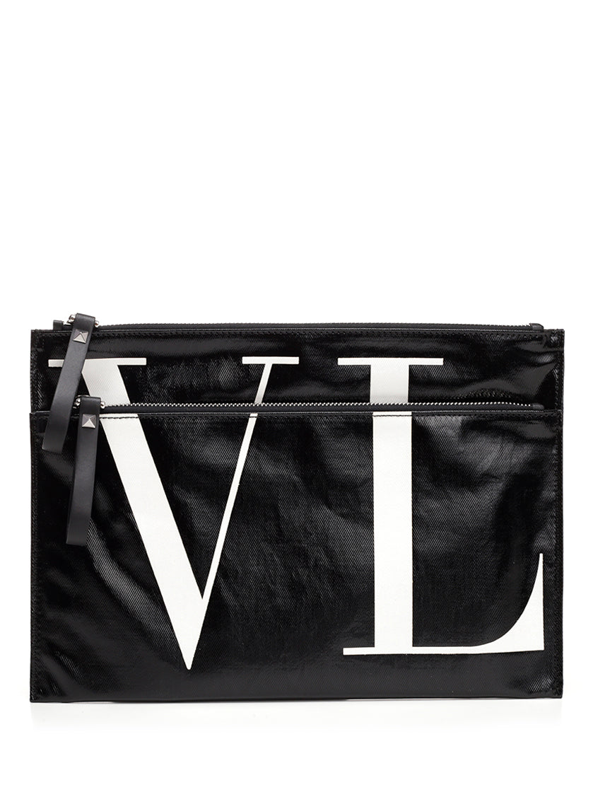 VALENTINO VLTN LOGO CLUTCH BAG