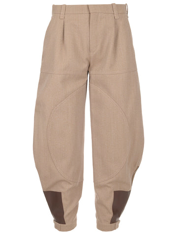 Chloé Baggy Cuffed Bottom Trousers