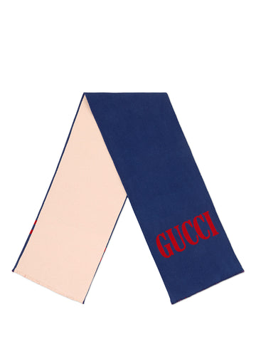 Gucci Contrast Scarf