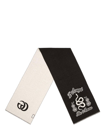 Gucci Printed Two-Tone Scarf