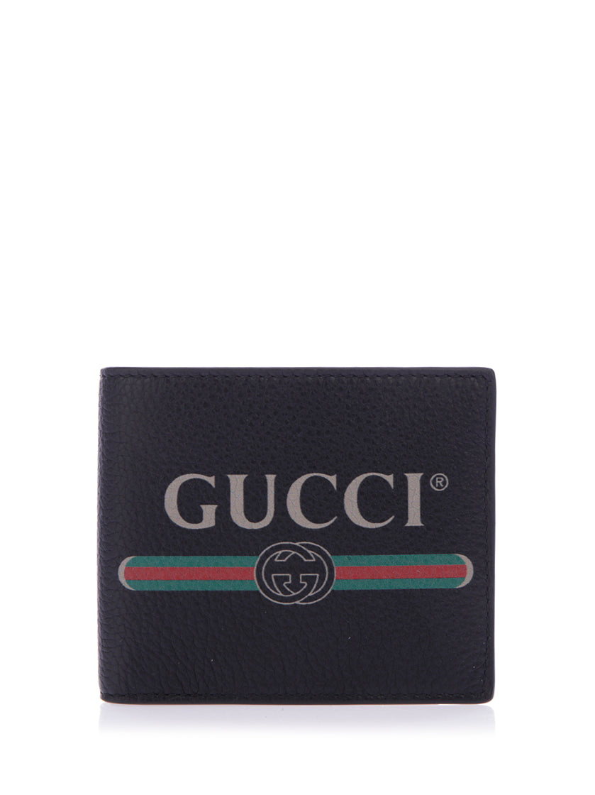 GUCCI GUCCI LOGO LEATHER COIN WALLET