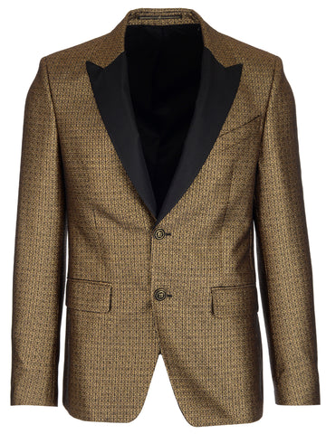 Givenchy Patterned Double Button Blazer
