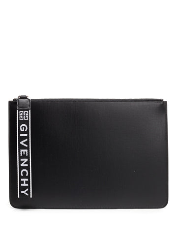 Givenchy Logo Zip Clutch Bag