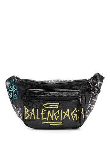 Balenciaga Logo Graffiti Belt Bag