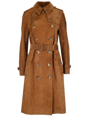 Burberry Haddington Suede Trench Coat