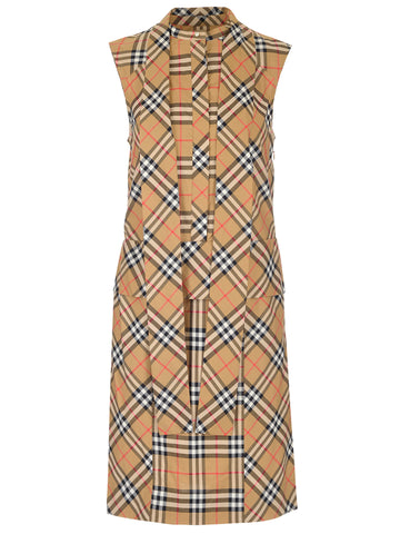 Burberry Luna Checked Sleeveless Dress