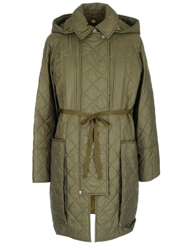 Burberry Quilted Hooded Parka