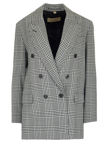 Burberry Checkered Double Breasted Blazer