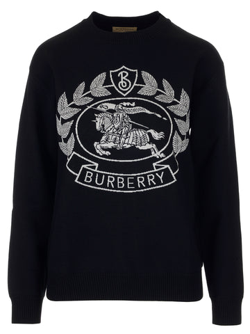 Burberry Embroidered Crest Sweater