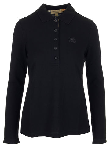 Burberry Long Sleeve Polo Top