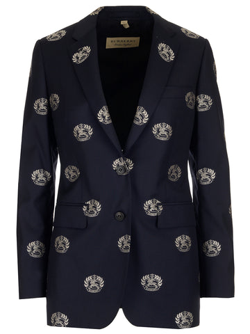 Burberry All-Over Crest Blazer