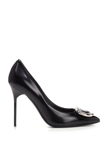 Burberry Patent D-Ring Pumps
