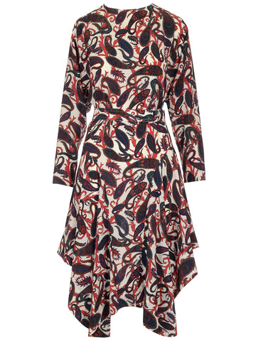 Chloé Paisley Long Sleeve Dress