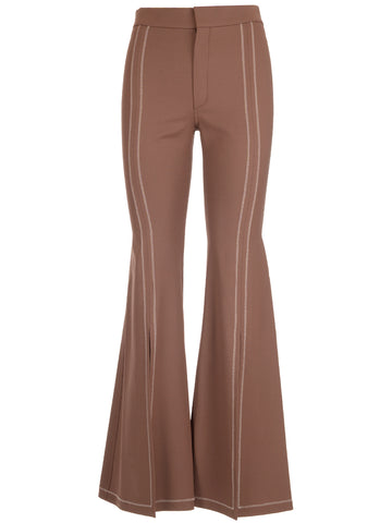 Chloé Stitched Striped Flare Pants