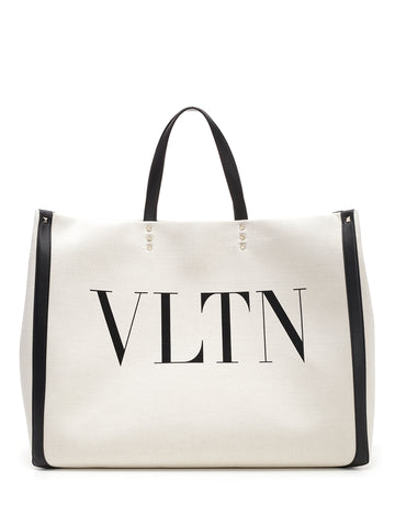 Valentino VLTN Canvas Shopping Bag