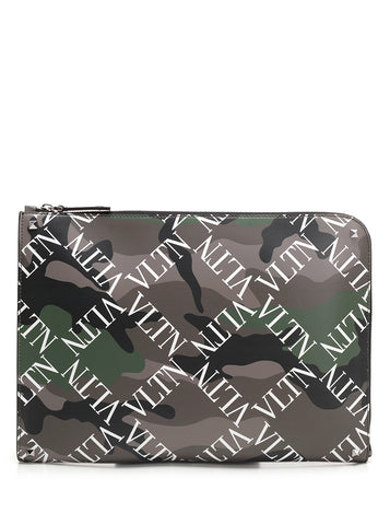 Valentino VLTN Camouflage Document Case