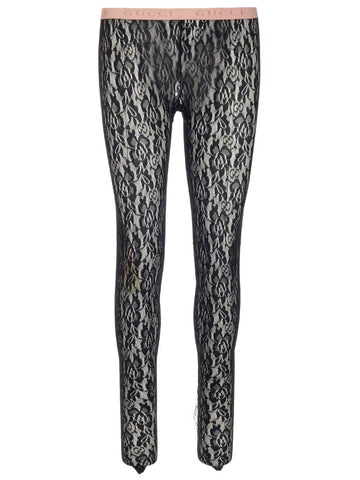 Gucci Logo Band Lace Leggings