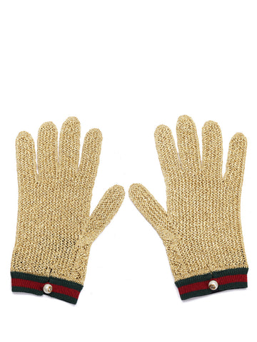 Gucci Chrochet Lurex Gloves