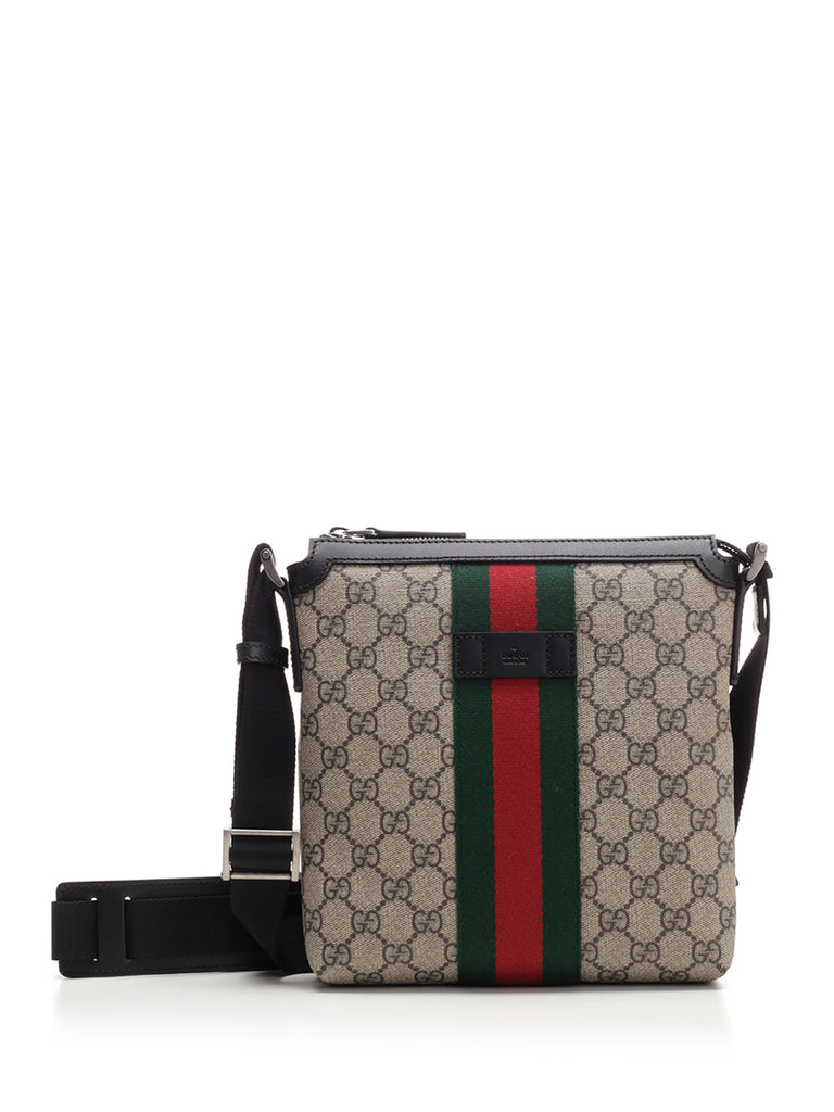 Gucci GG Supreme Web Messenger Bag