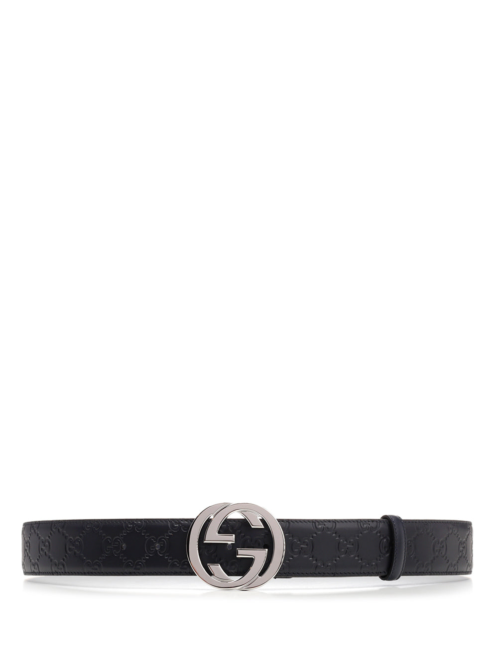 Gucci Gg Supreme Embossed Buckle Belt In Blue
