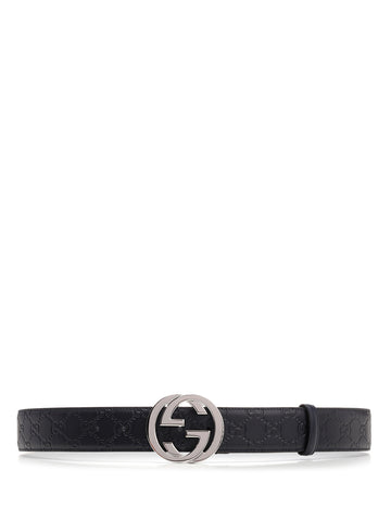 Gucci GG Supreme Embossed Buckle Belt