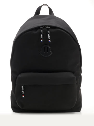 Moncler Pierrick Logo Patch Zipped Backpack