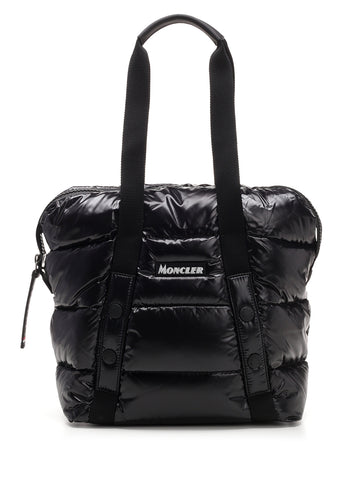 Moncler Logo Patch Padded Shopper Tote Bag