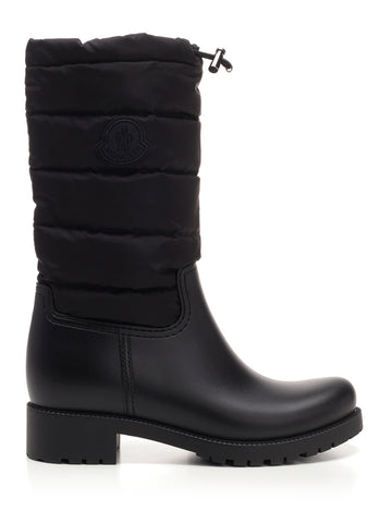 Moncler Ginette Logo Patch Quilted Effect Boots
