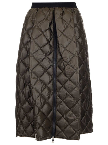 Moncler Padded Zip Detail Midi Skirt