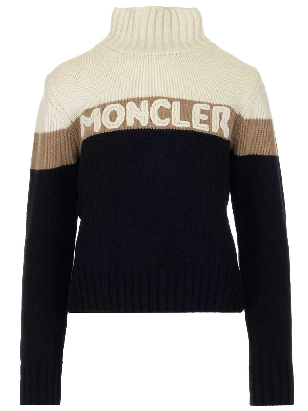 ef01aa63fa Moncler Roll Neck Panelled Sweater in Multi