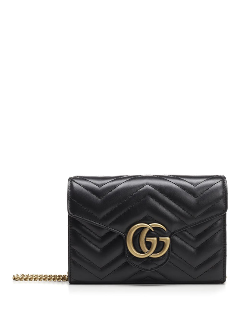 8aacdbb6b6cd Gucci GG Marmont Quilted Wallet Bag – Cettire