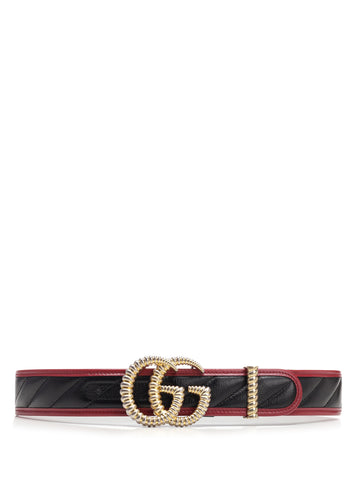 Gucci GG Marmont Contrast Trimmed Belt