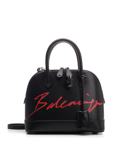Balenciaga Signature Logo Top Handle Bag