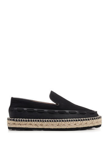 Bottega Veneta Stitch Detail Slip On Lace Platform Espadrilles