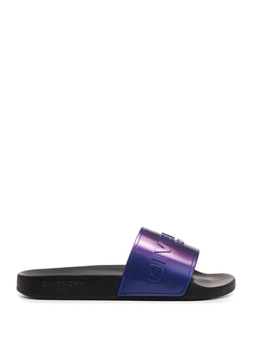 Givenchy Iridescent Logo Sandals