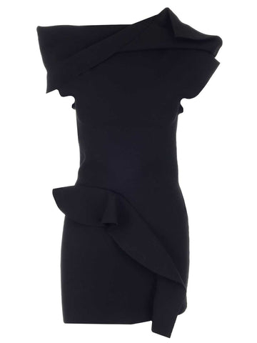 Rick Owens Ruffled Asymmetric Top