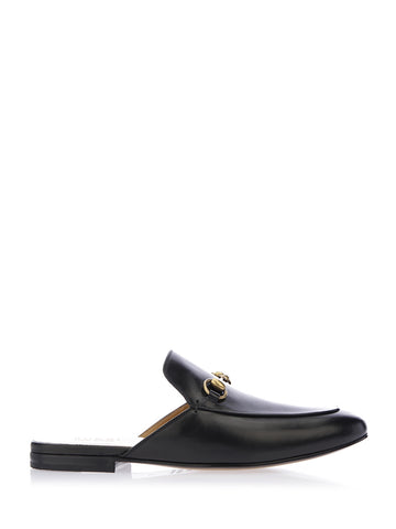 Gucci Leather Horsebit Slippers