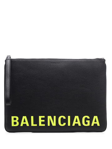Balenciaga Logo Clutch Bag