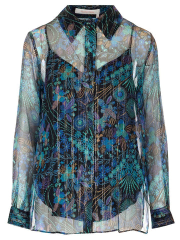 See By Chloé Printed Sheer Shirt