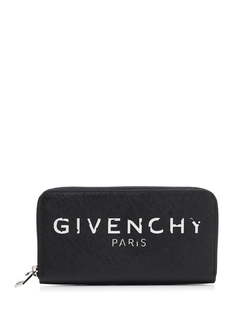 Givenchy Iconic Prints Continental Wallet In Black