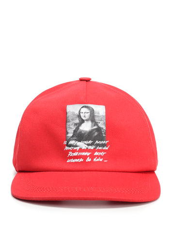 Off-White Printed Mona Lisa Baseball Cap