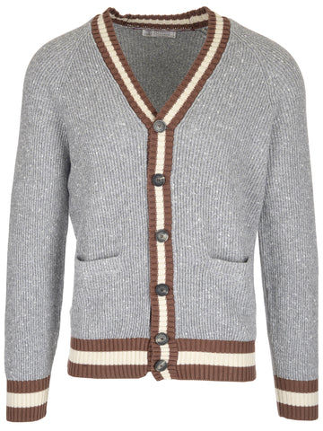 Brunello Cucinelli Contrast Knitted Cardigan