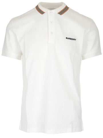 Burberry Logo Stripe Detail Polo Shirt