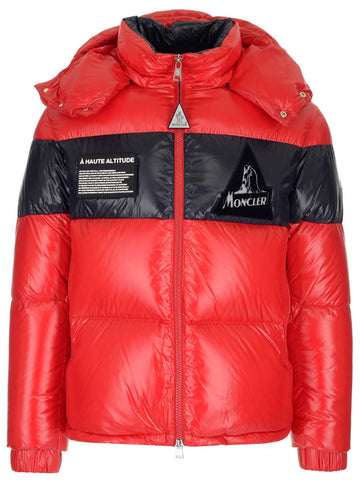 Moncler Panelled Logo Patch Puffer Jacket