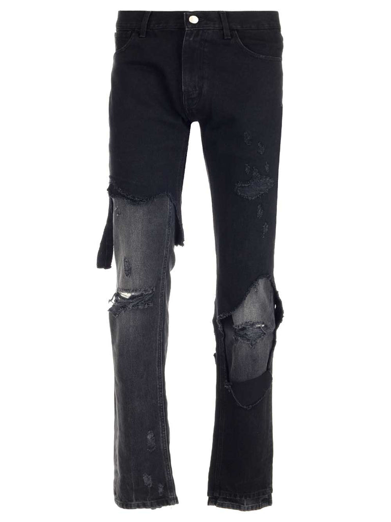 Raf Simons Jeans RAF SIMONS DISTRESSED SKINNY JEANS