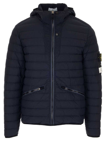 Stone Island Logo Patch Quilted Hooded Jacket