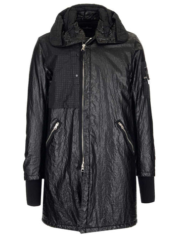 Stone Island Shadow Project Long Zipped Hooded Raincoat