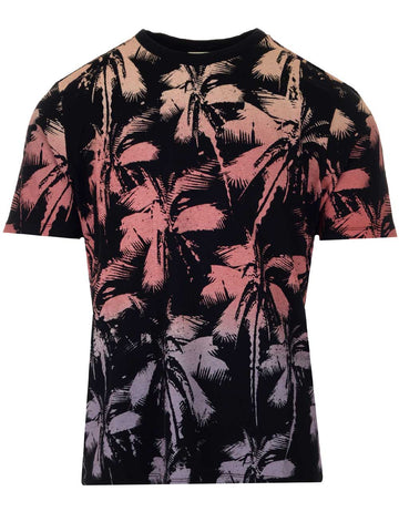 Saint Laurent Palm Tree Printed T-Shirt