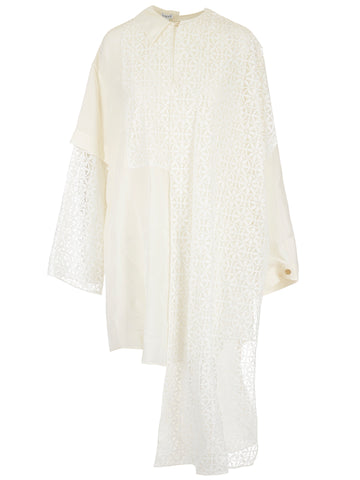 Loewe Asymmetric Lace Shirt Dress